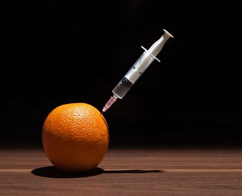 GMO fruit needle injection